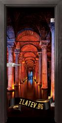 Стъклена интериорна врата Print G 13-13 Turkey с каса  Венге