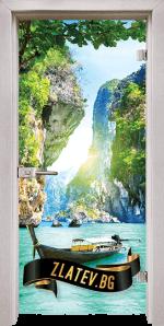 Стъклена интериорна врата Print G 13 15 D