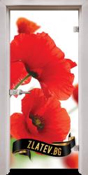 Стъклена интериорна врата Print G 13-8 с каса Перла