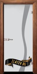 Стъклена интериорна врата Sand G 14-1 с каса Златен дъб
