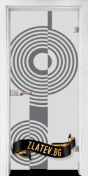 Стъклена интериорна врата Sand G 14-6 с каса Бреза