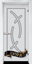 Стъклена интериорна врата Sand G 14-9 с каса Бреза