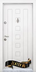 Блиндирана входна врата модел T-712, панел Бял