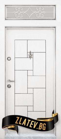 Еднокрила входна врата T-100 - Бяла