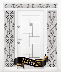 Еднокрила входна врата T-100 - Цвят бял