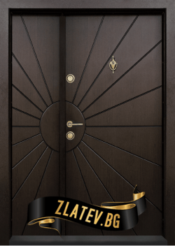 Еднокрила входна врата T-109 - Цвят тъмен орех