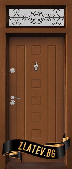 Еднокрила входна врата T-712 - Цвят Златен Дъб
